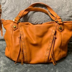 orYany pumpkin 🎃 orange leather handbag